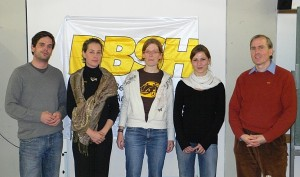 Vorstand v.L.n.R. Mathias Buchner, Monika Haidle, Isabelle Dubois, Melanie Rigorth, Achim Ranz