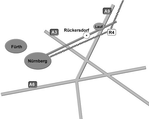 """Anfahrtskizze zum """"ZwischenRaum"""""""