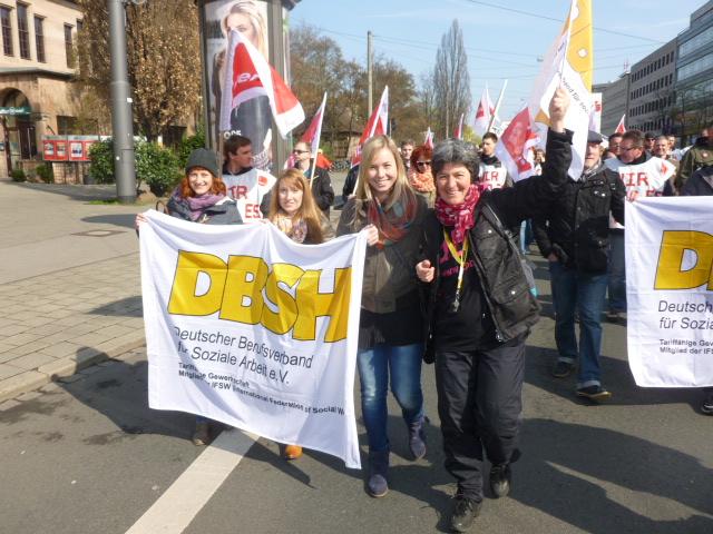 DBSH Mitglieder zeigen Flagge
