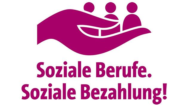 "Logo der Kampagne ""Soziale Berufe. Soziale Bezahlung!"""
